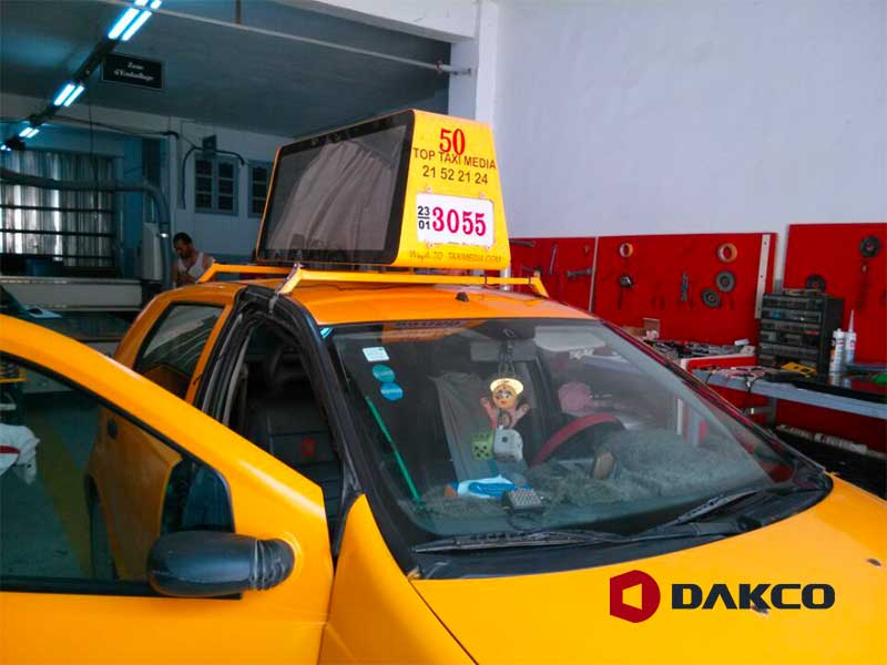 Taxi Roof Led Sign Advertising