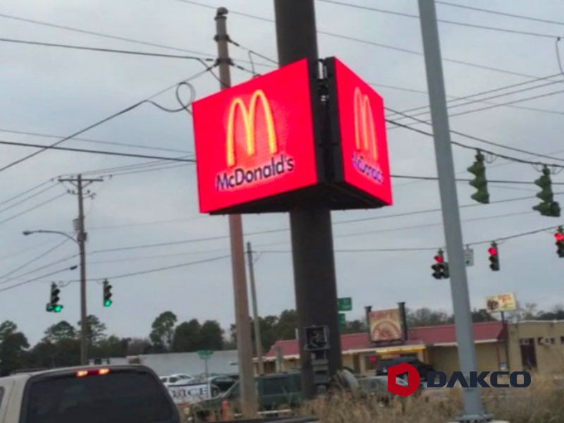 Outdoor Led Video Wall For Franchise Stores
