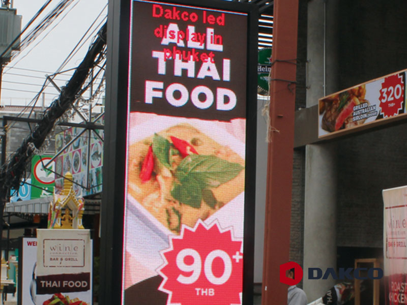 Outdoor Led Video Wall For Resturant in Thailand