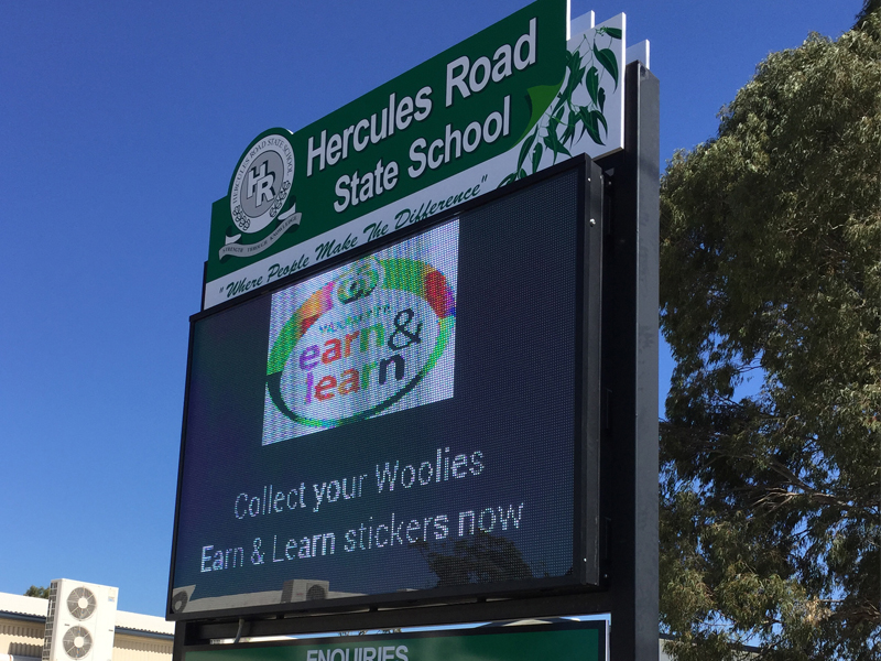 Outdoor LED School Sign