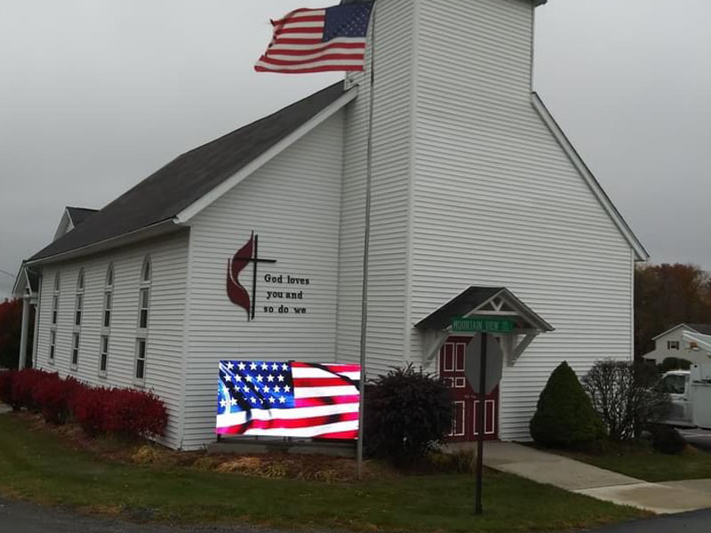 Church led sign in USA