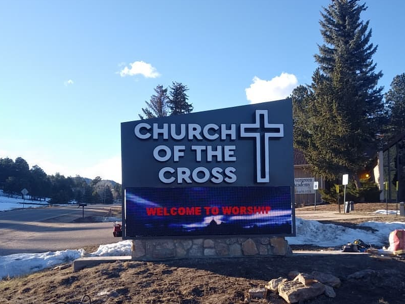 Dakco Church led signs project in USA