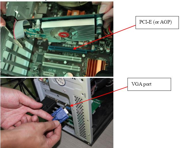 Connect The DVI Graphic Card We Provide To PCI E Or AGP Of Computer Motherboard Main Board System Then