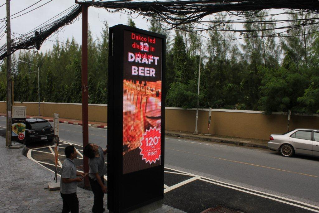 front service led display sign