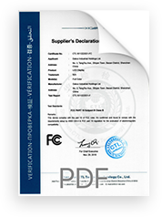FCC certificate (accredited lab)